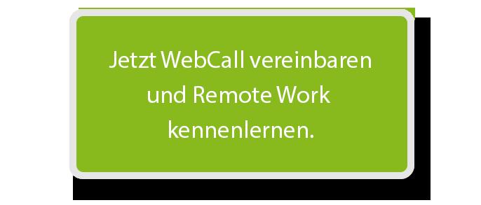 CTA Button WebCall vereinbaren.