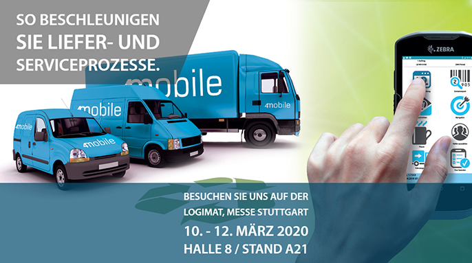 Liefer- und Serviceflotte mit 4mobile Business App