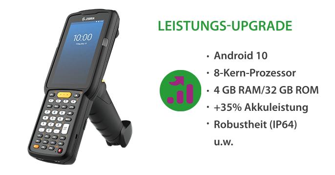 Performance-Tuning im Lager: Der neue Mc3300x Mobilcomputer mit Android 10