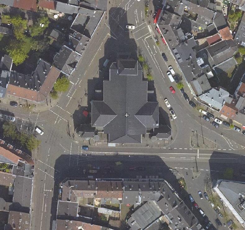 Bilker Kirche Luftbild