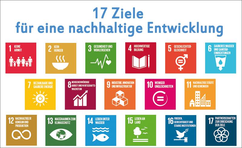 SDG Goals 17 Nachhaltigkeitsziele