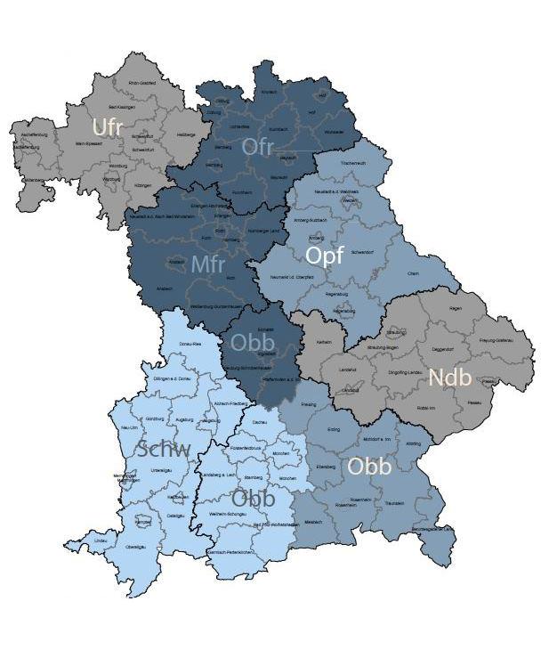 Karte Gebietsreferenten Landesstelle