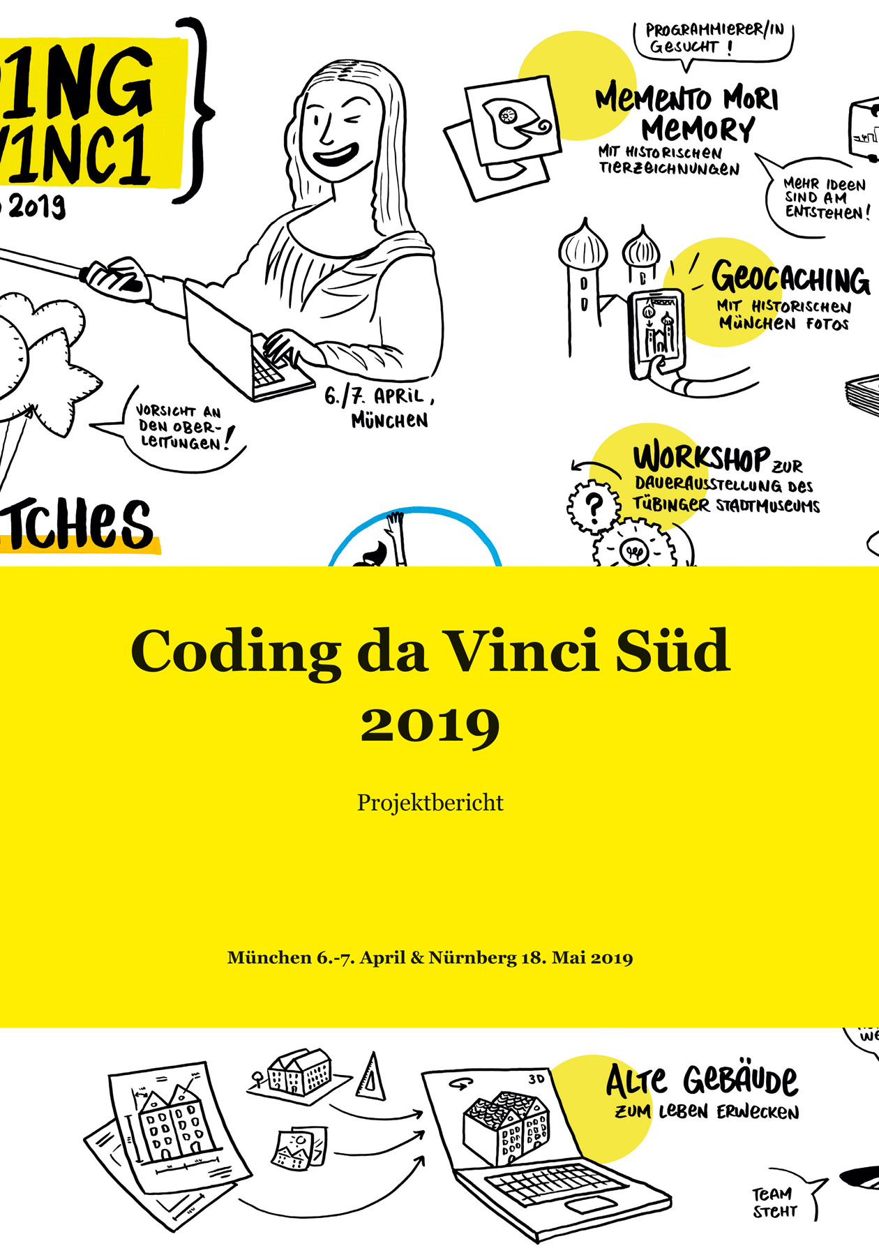 Cover Projektbericht Coding da Vinci Süd 2019