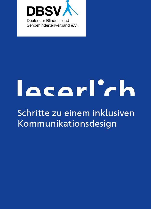 """Cover der Broschüre """"leserlich"""""""