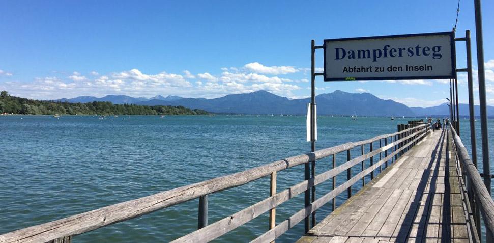 Chiemsee Dampfersteg, Foto: Landesstelle