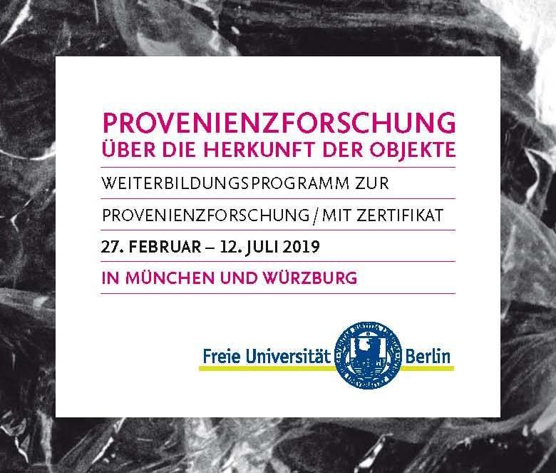 Zertifikatskurs Provenienzforschung