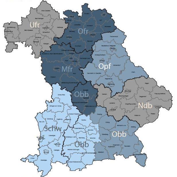 Karte Gebietsreferate