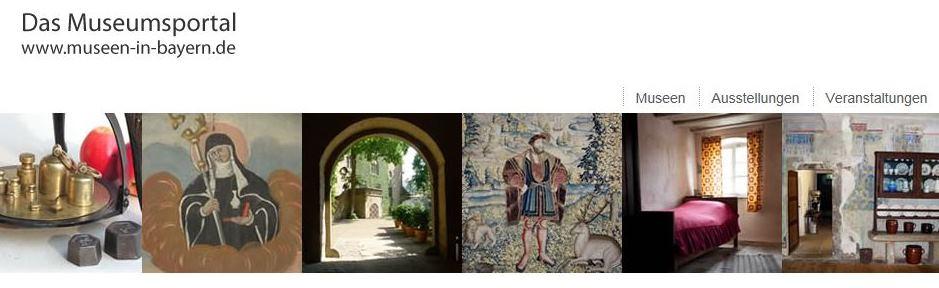 Screenshot Museumsportal Bayern