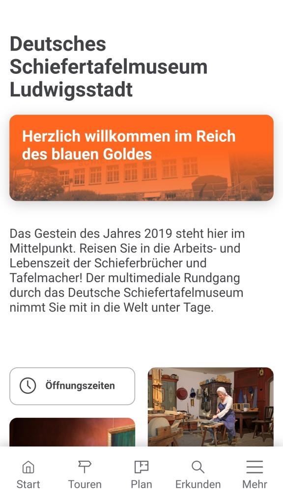 Screenshot App Schiefertafelmuseum