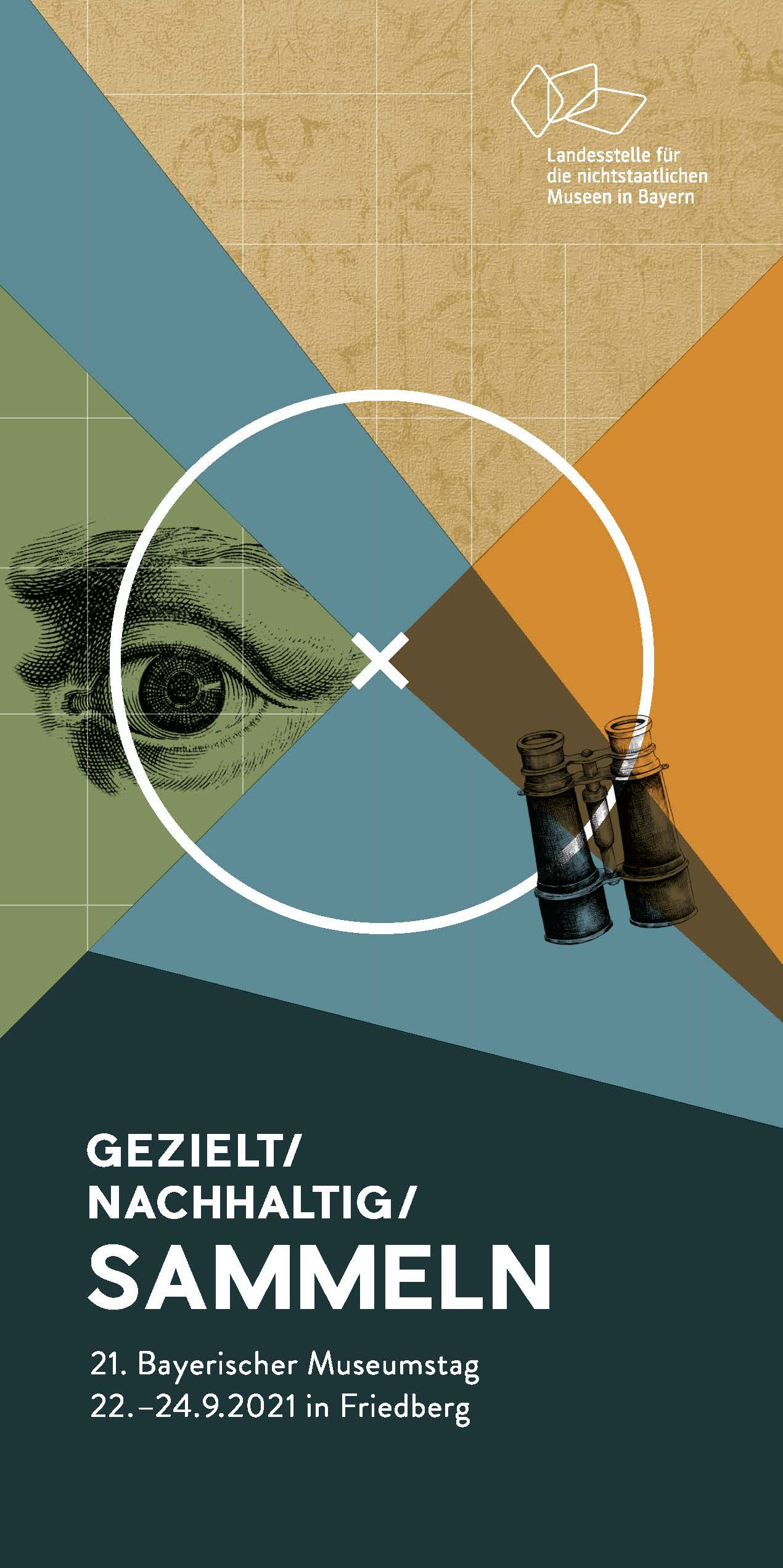 Cover des Programmfolders des Bayerischen Museumstags 2021