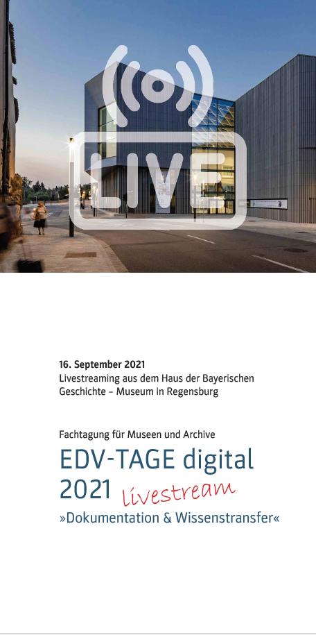 Cover Programmflyer EDV-Tage 2021