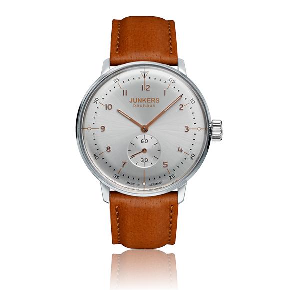 Flache Bauhaus Uhr mit Handaufzug