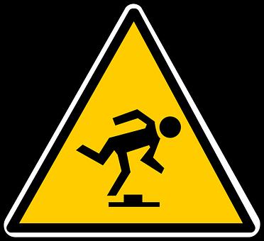 Symbolbild Stolpern
