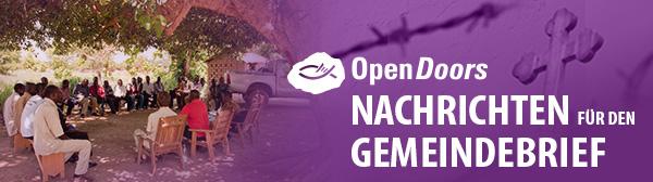 Open Doors Informationen für den Gemeindebrief