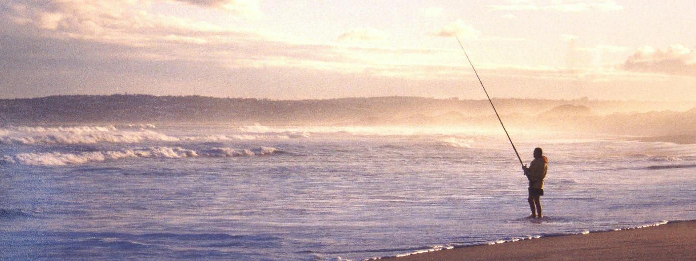 Fischer im Abendgold