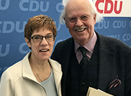 Prof. Dr. Otto Wulff und Annegret Kramp-Karrenbauers