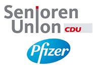 Logo der Senioren Union der CDU Deutschlands und Pfizer