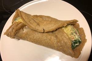 Buchweizen-Pfannkuchen mit frühlingsfrischen Gemüse