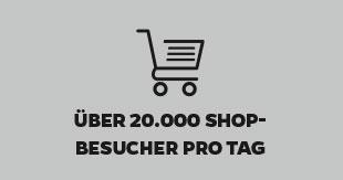 über 20.000 Shopbesucher am Tag
