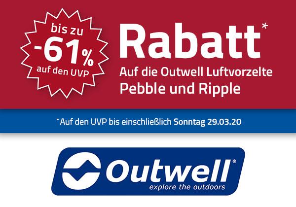 Outwell Vorzelte Ripple und Pebble