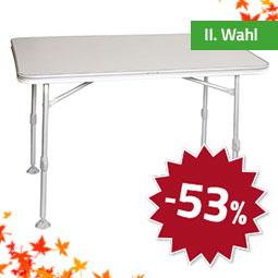 Belsol Alu Tisch 115 x 70 mit Kunststoffplatte ll. Wahl