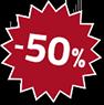 50% Rabatt auf hochwertiges Zubehör