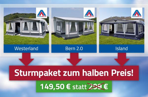 Dauerstandvorzelte Westerland, Bern 2.0, Island