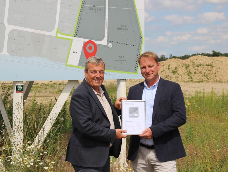 Nachhaltigkeitszertifikat für das Gewerbegebiet in Egestorf