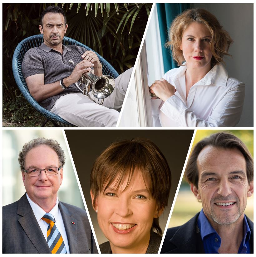 vlnr: Till Brönner, Nina George, Olaf Zimmermann, Barbara Haack, Hans-Werner Meyer