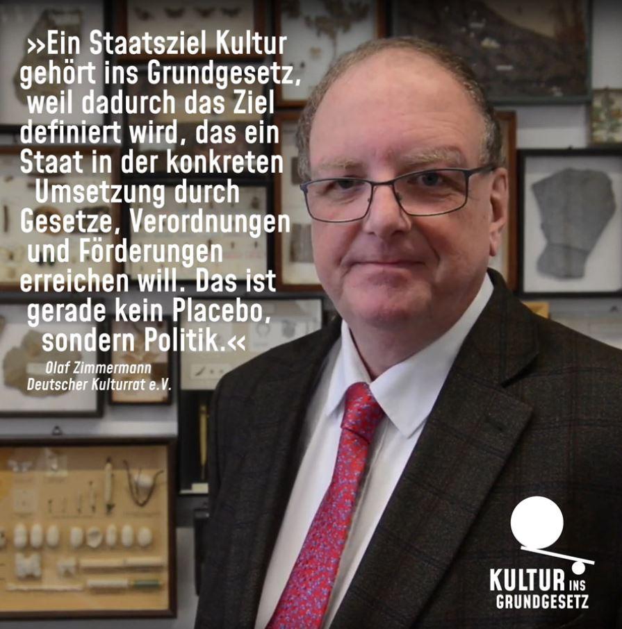 Olaf Zimmermann, Geschäftsführer Deutscher Kulturrat