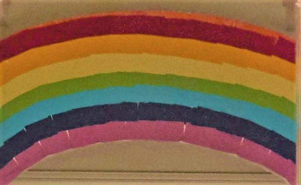 Regenbogen. Auschnitt Foto J. Riesener