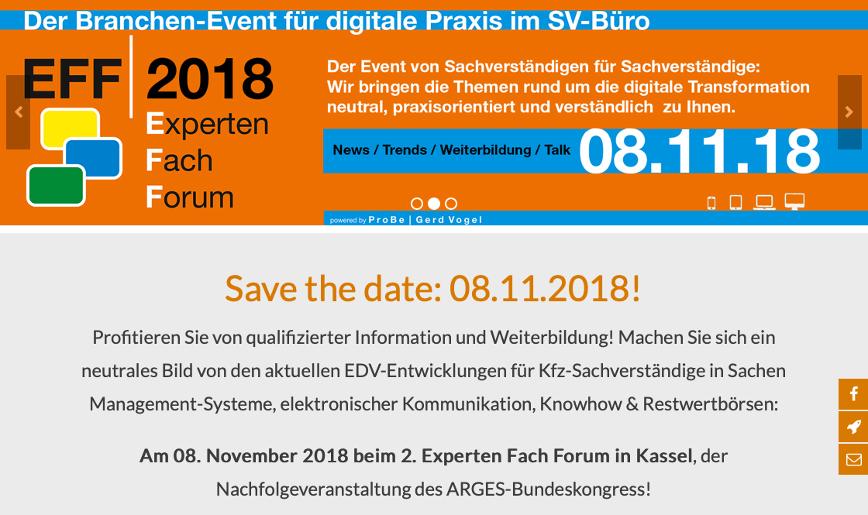 Experten Fach Forum in Fulda 2018