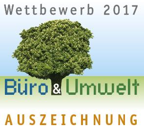 Auszeichnung Büro und Umwelt 2017 für wildpeppermint-design.de
