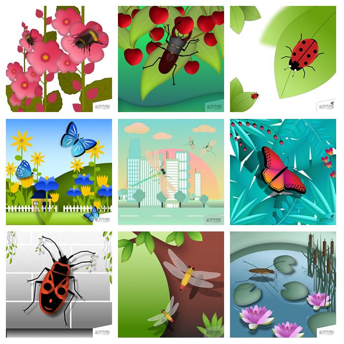 DesignTrend: Insekten. Illustrationen made by wildpepeprmint-design