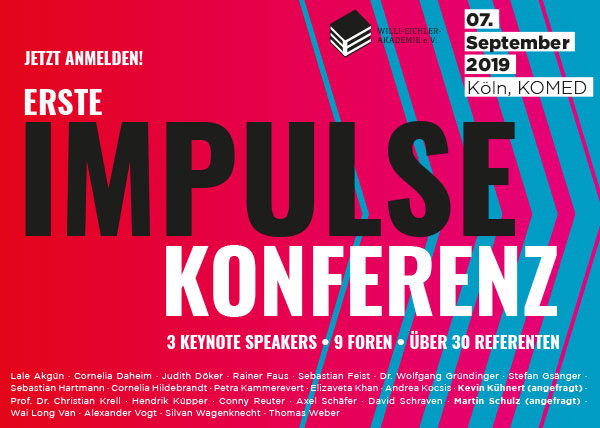 erste IMPULSE-Konferenz am 7. September im Kölner Mediapark