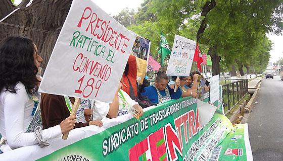 Unterstützung für peruanische Hausangestellte während der Pandemie