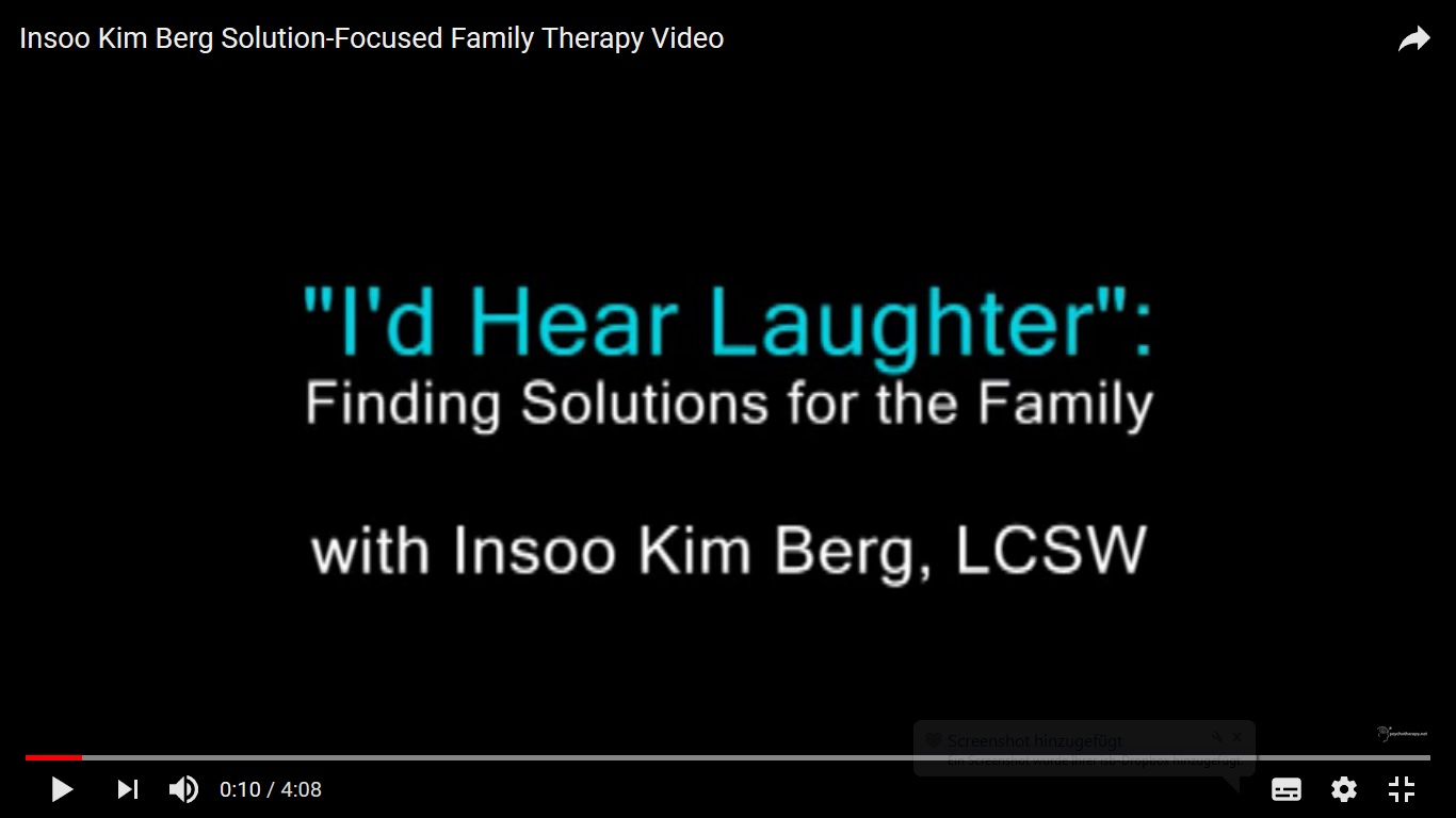 Insoo Kim Berg solution-focused therapy