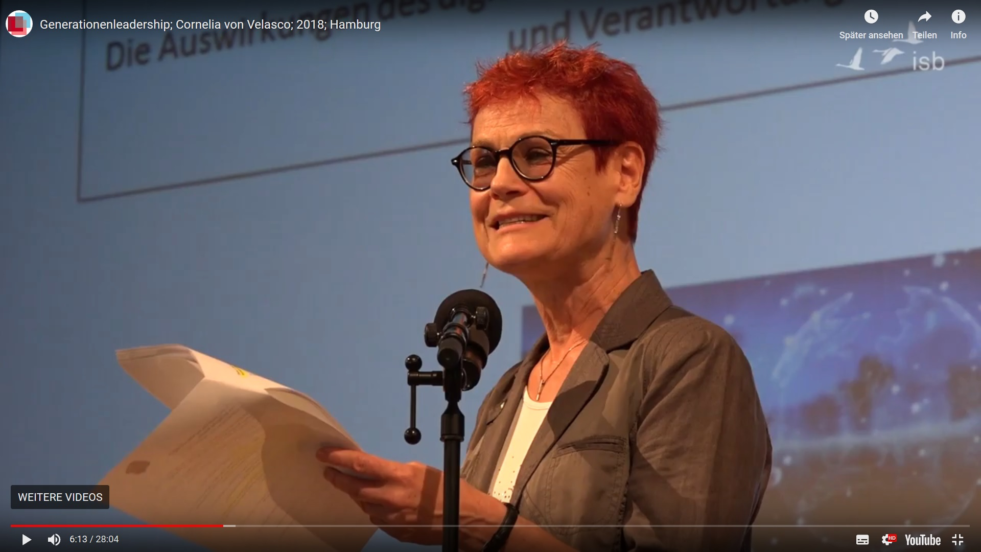 Dr. Cornelia von Velasco über Generationen-Leadership