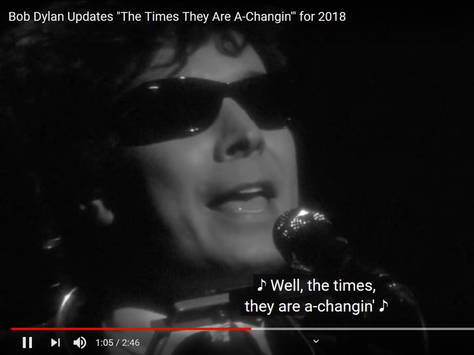 The Times They Are a-Changin´ 2018