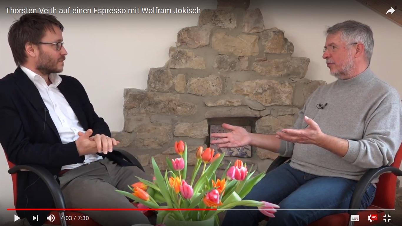 Wolfram Jokisch auf einen Espresso