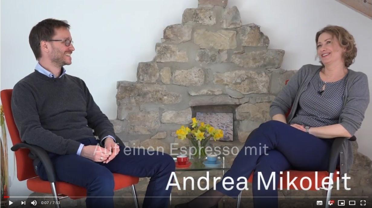 Auf einen Espresso mit... Andrea Mikoleit