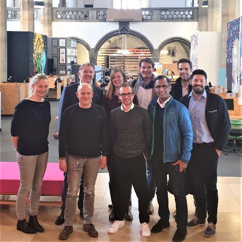 Fujitsu Team zu Besuch im digitalHUB