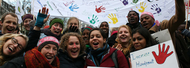 Participants at the climat demonstration in November 2017 in Bonn during the group phase, Deutschland. Photo: Germanwatch (2017)