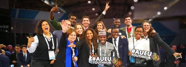"""Foundation of the """"AU-EU Youth Cooperation Hub"""". Photo: AU-EU Youth Hub (2018)"""