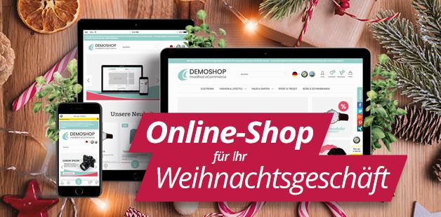 Online-Shop für ihr Weihnachtsgeschäft