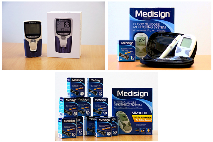action medeors Blutzuckermessgeräte und Teststreifen