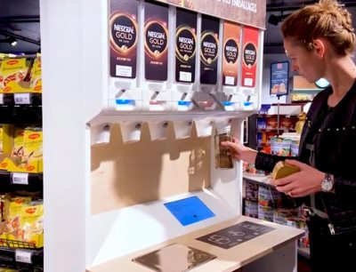Nestlé pilots reusable and refillable dispensers to reduce single-use packaging, Photo: Nestlé