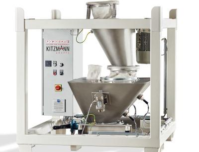 Der Desagglomerator von Kitzmann garantiert eine schonende Trennung und rückstandsfreie Pulverversiebung, Bild: Kitzmann