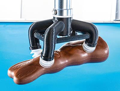 Die konstruktive Freiheit des 3D-Drucks erlaubt optimal geformte Werkzeuge auch für zerbrechliche und komplexe Produktformen, Bild: Gerhard Schubert GmbH