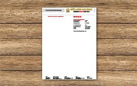 Wüllner Holzbau Briefbogen